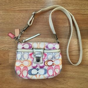 Coach Poppy Pastel Scribble Crossbody